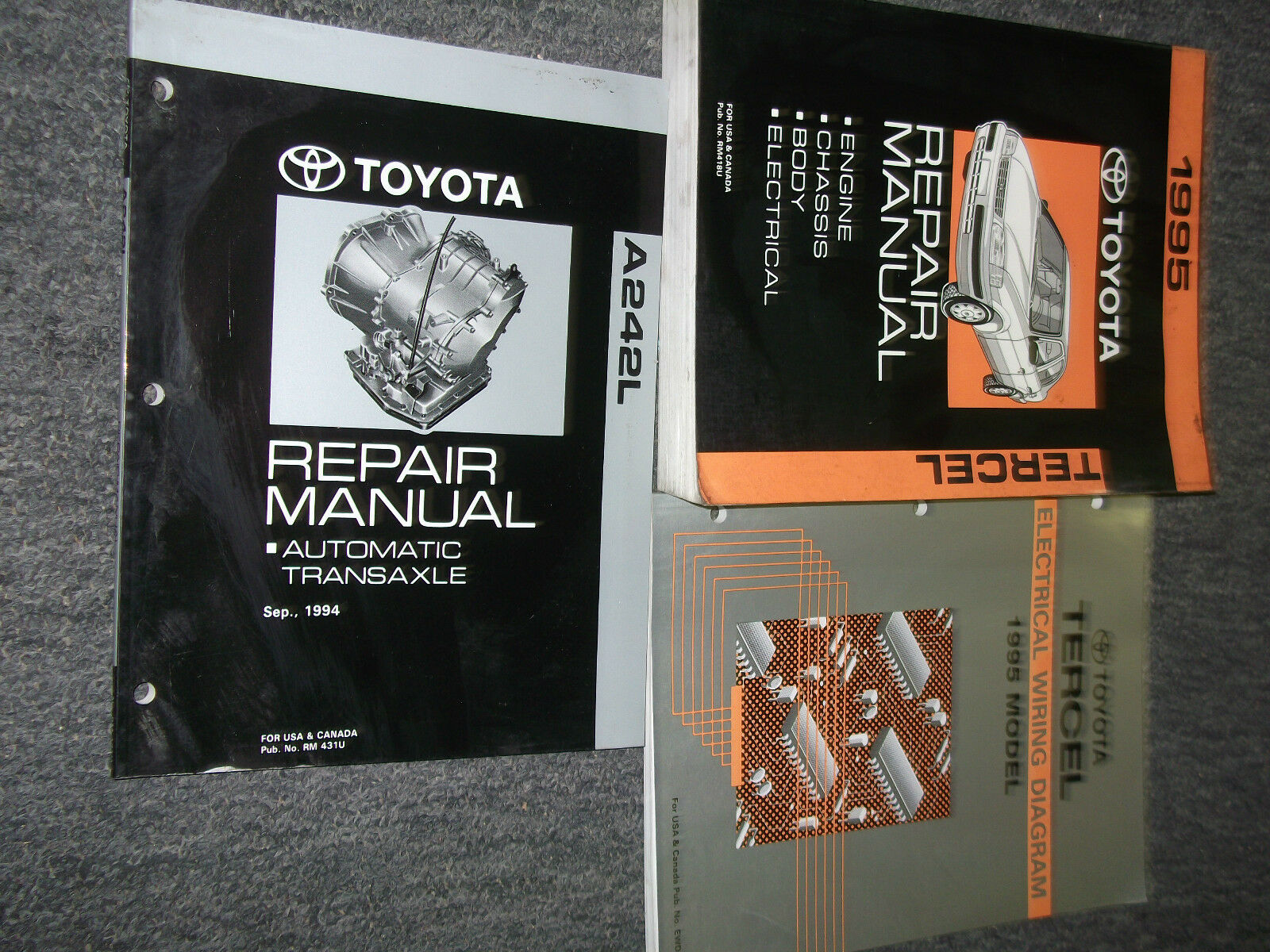 1995 Toyota Tercel Service Shop Repair Manual Set W Ewd Trans Electrical Diagram 1 Of 6only Available
