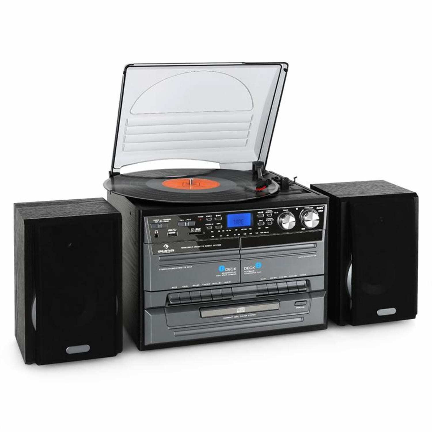 hifi platten spieler usb recording cd mp3 stereo kompakt anlage radio kassette eur 119 99. Black Bedroom Furniture Sets. Home Design Ideas