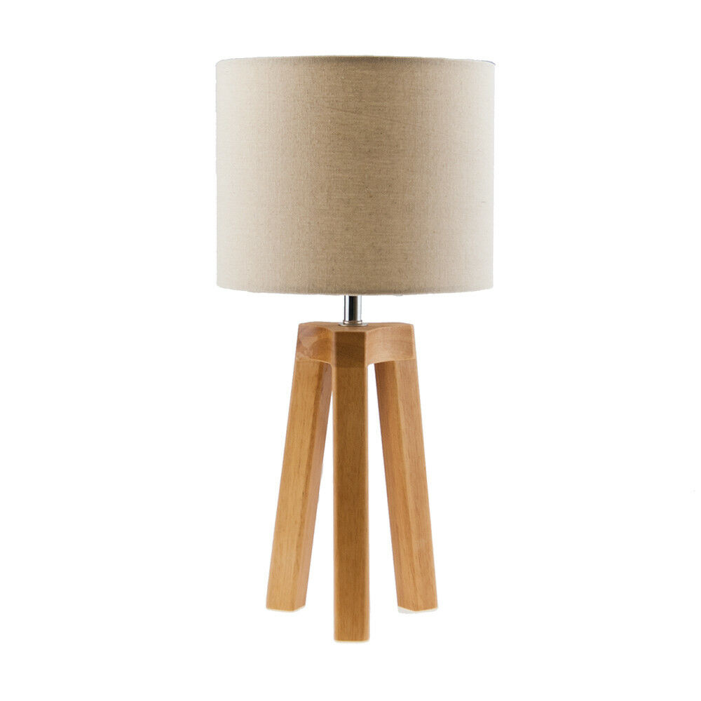 MODERN Scandinavian Design Wooden Tripod Table Lamp
