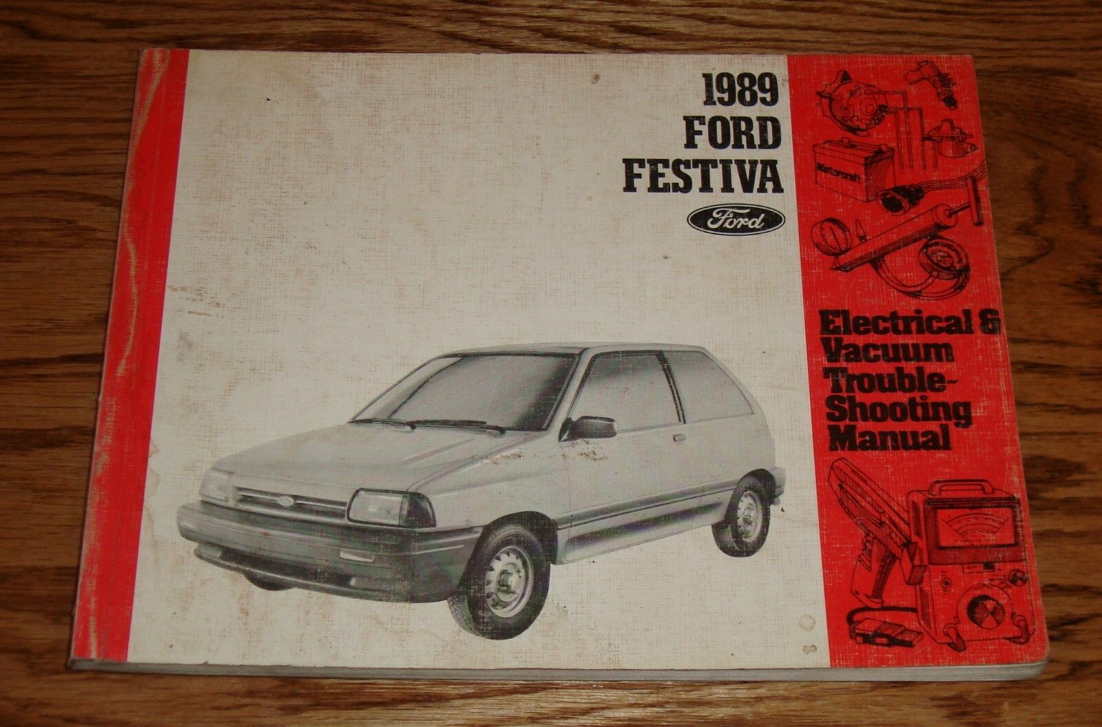 1989 Ford Festiva Electrical Vacuum Troubleshooting Manual Wiring 1993 Engine Diagram 89 1 Of 1only Available