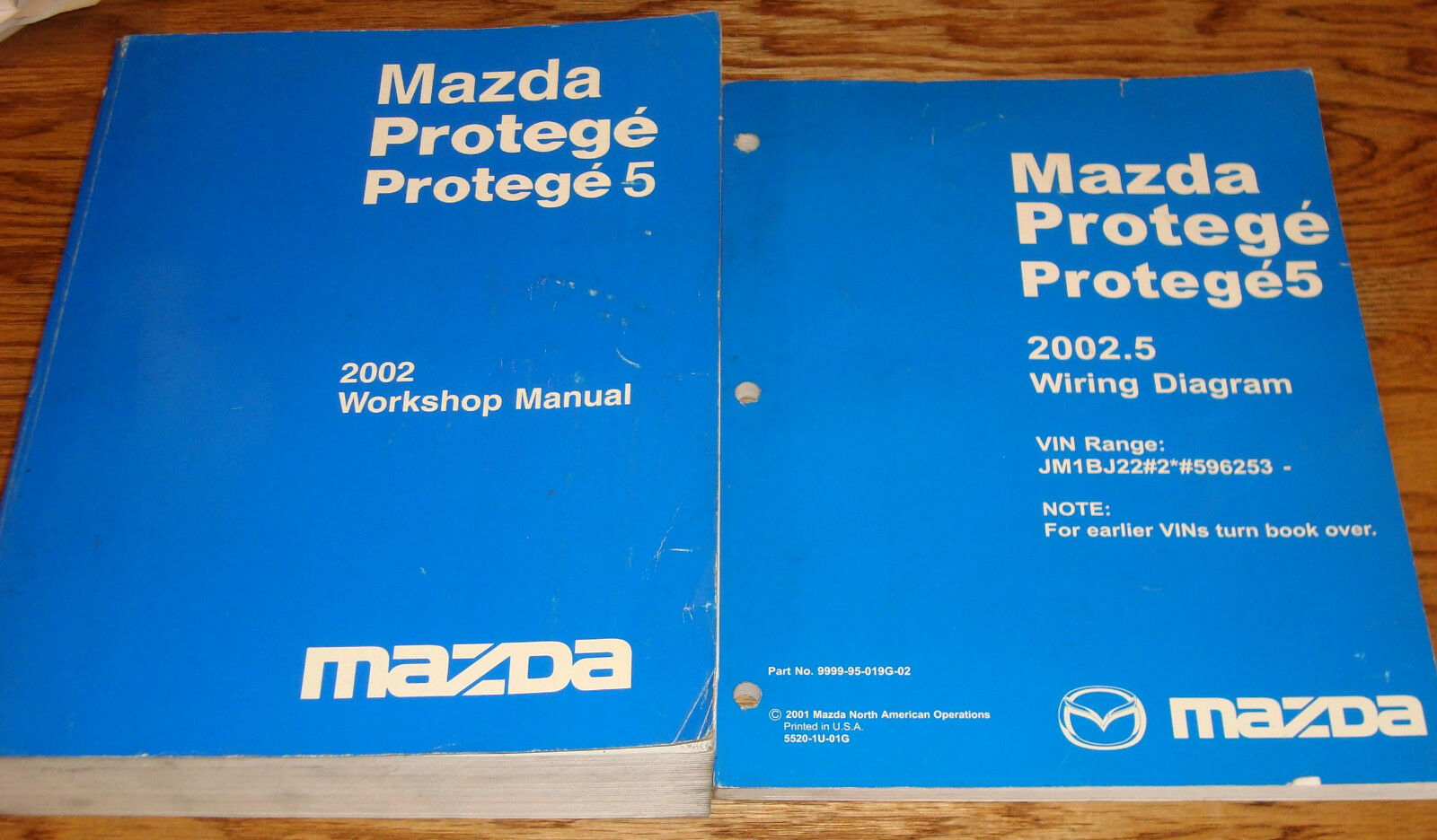 2002 Mazda Protege / Protege5 Shop Service Manual + 2002.5 Wiring Diagram  Set 1 of 1Only 1 available ...