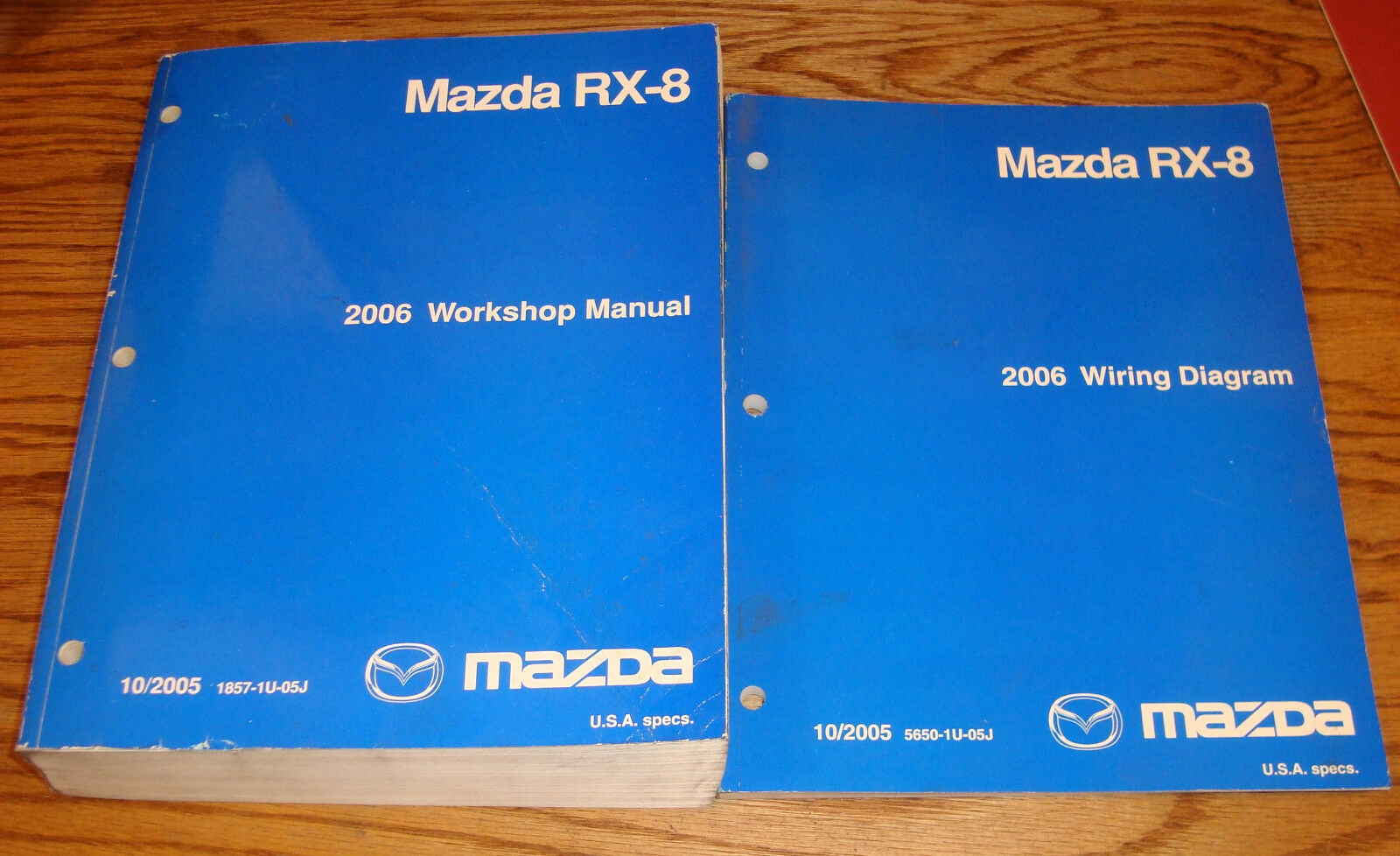 Original 2006 Mazda Rx 8 Shop Service Manual Wiring Diagram Set 06 Diagrams For 1 Of 1only Available