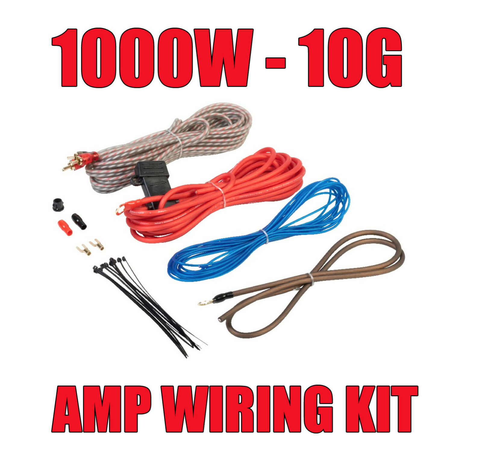 1000w Complete 10 Gauge Car Amp Vibe Fli Amplifier Cable Subwoofer Wiring Kits For Cars Kit 1 Of 2free Shipping See More