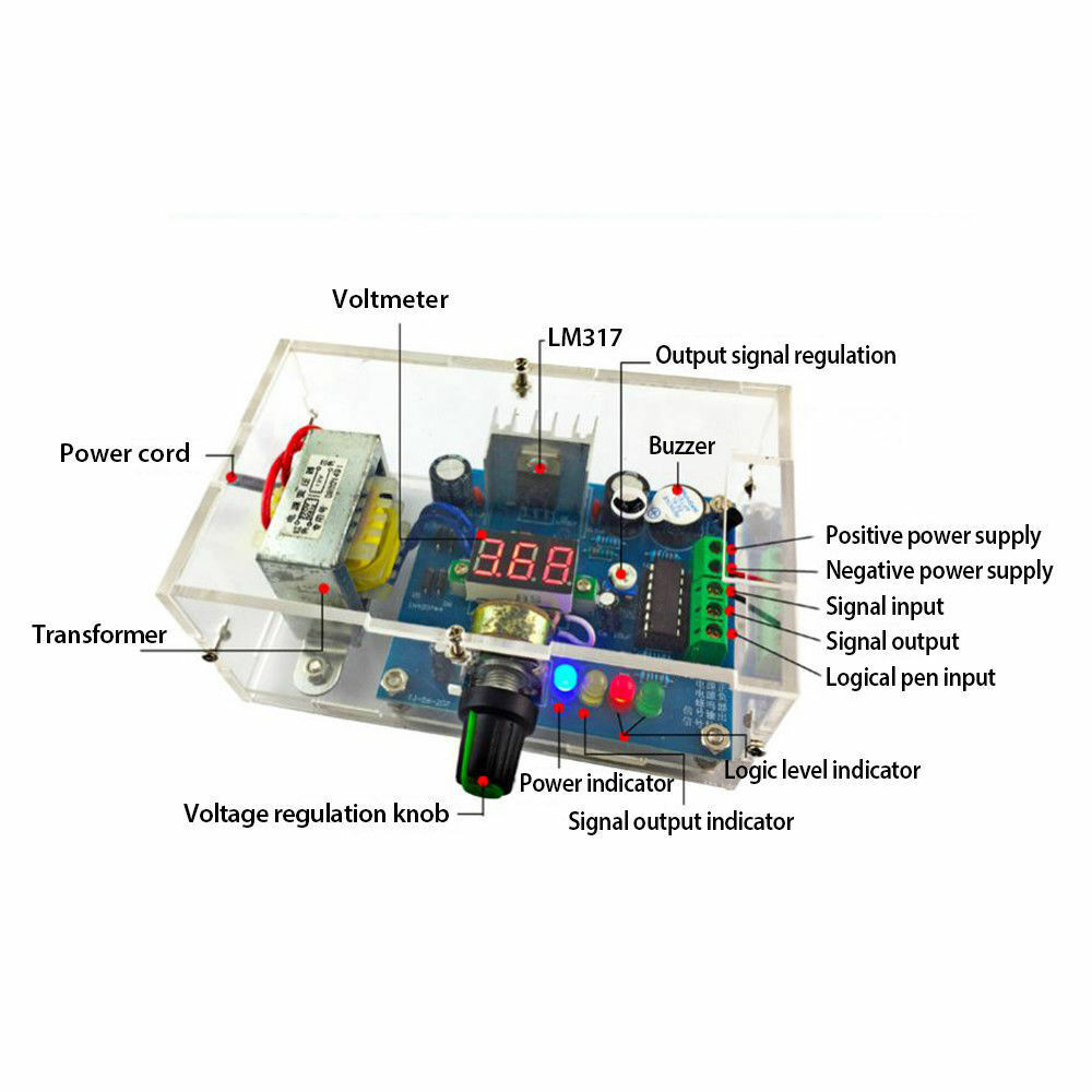 The Lm317 Variable Dc Power Supply Diy Kit Voltage Display Home 10a 1 30v With Electronic Adjule Moudle Ion Of 9free