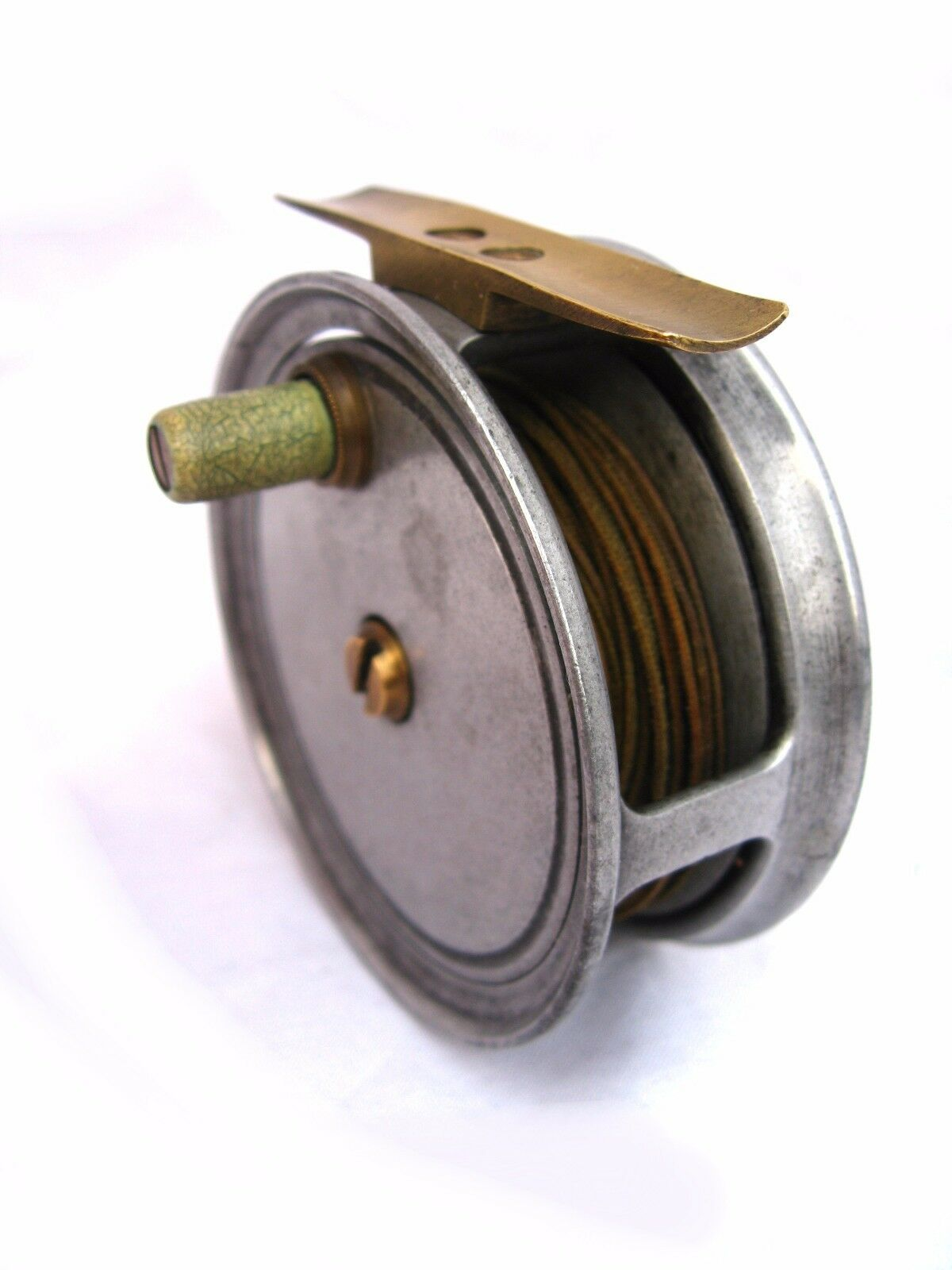 Antique fly fishing reel original silk line 1890 1920 for Antique fishing reels