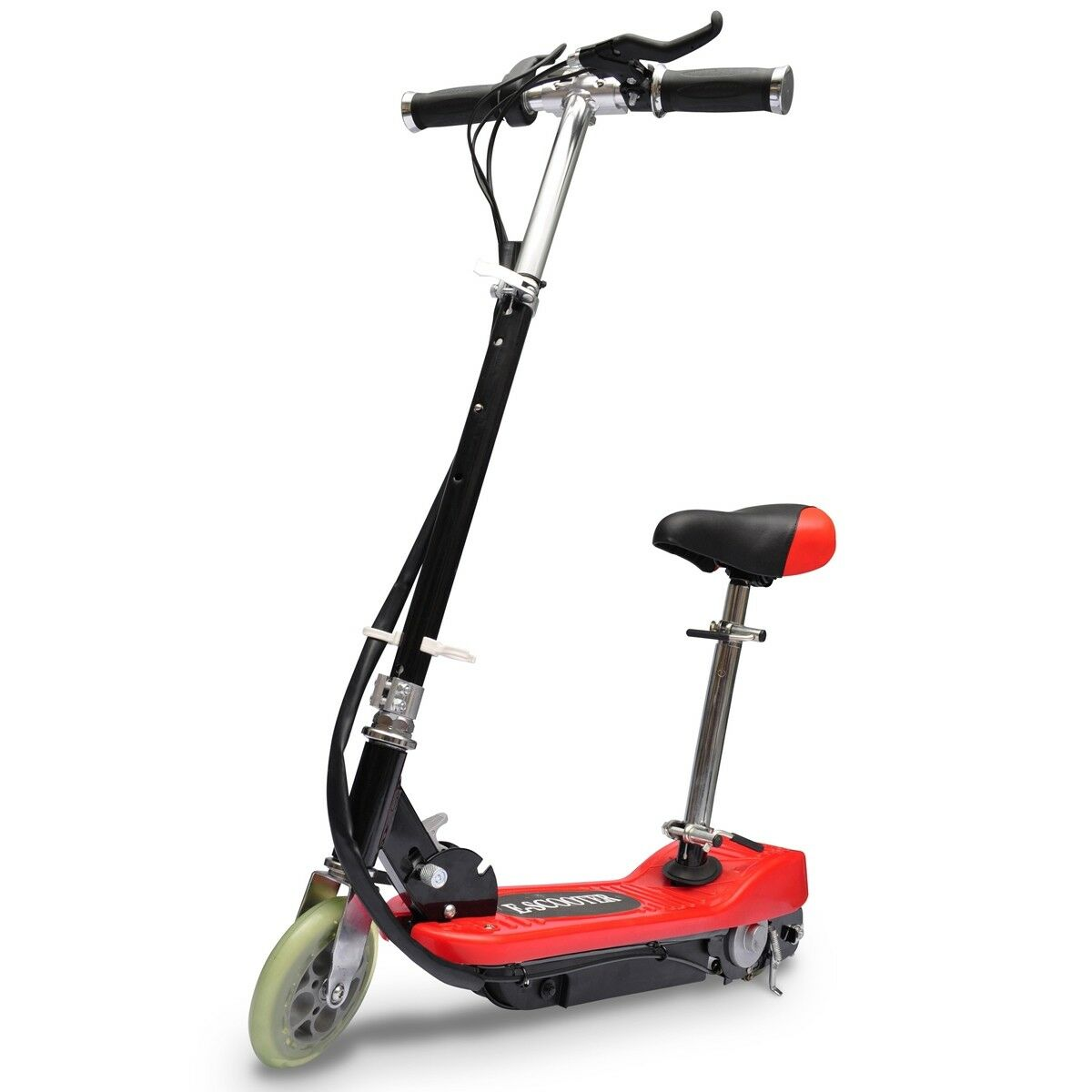 vidaxl e scooter mit sitz 120w akku motor elektroroller 12. Black Bedroom Furniture Sets. Home Design Ideas