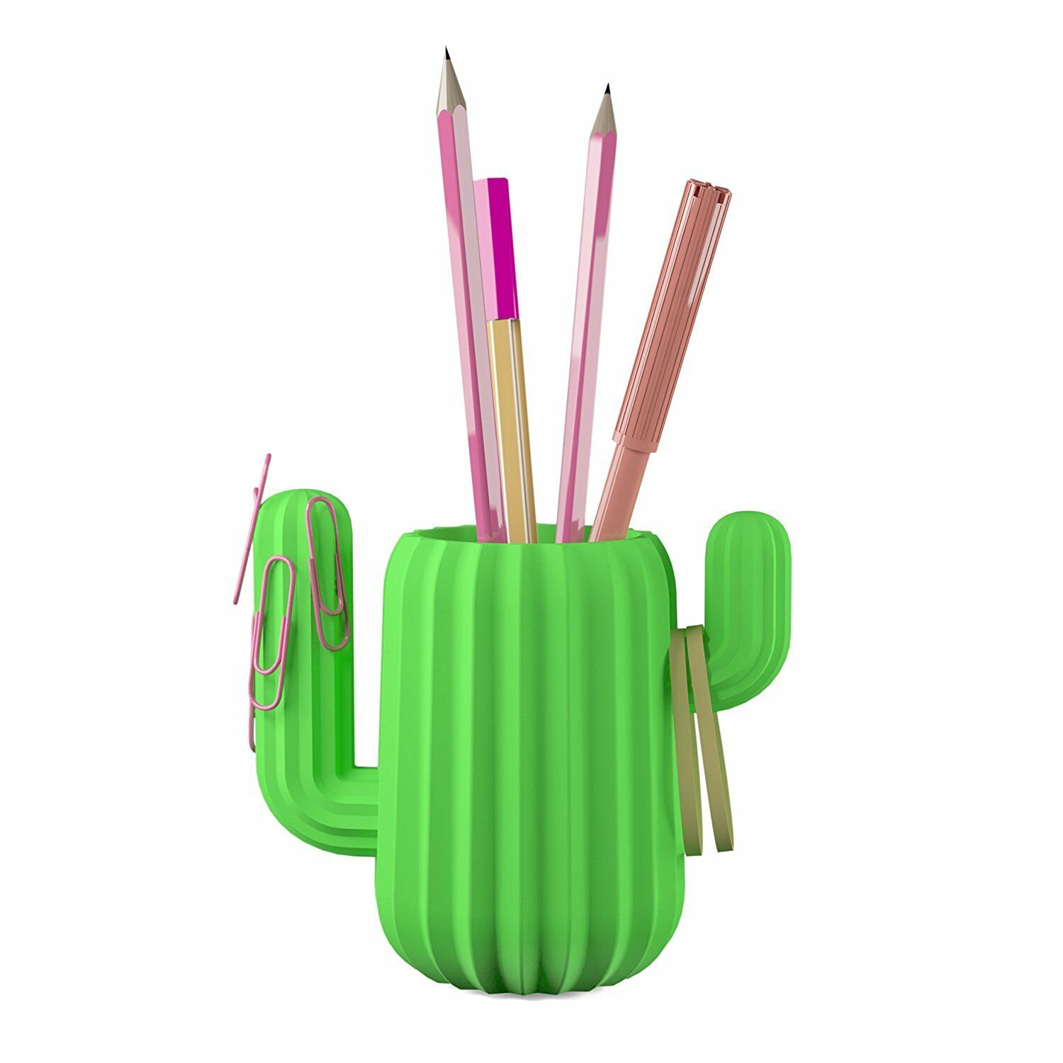 Mustard Green Cactus Pen Holder Magnetic Desktop Organizer Desk Office Pot 1 Of 2only 4 Available See More