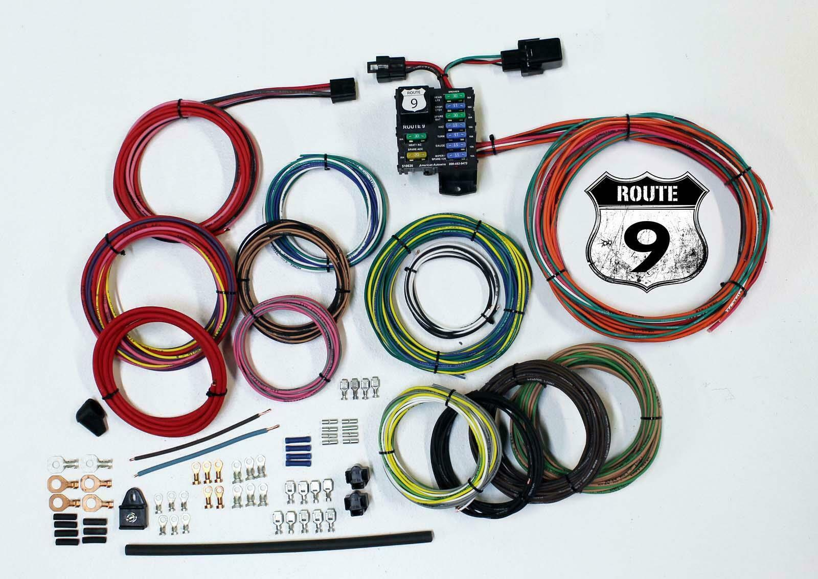 American Auto Wire 510625 Route 9 Universal Wiring Harness Kit Cj3a 1 Of 1only 5 Available