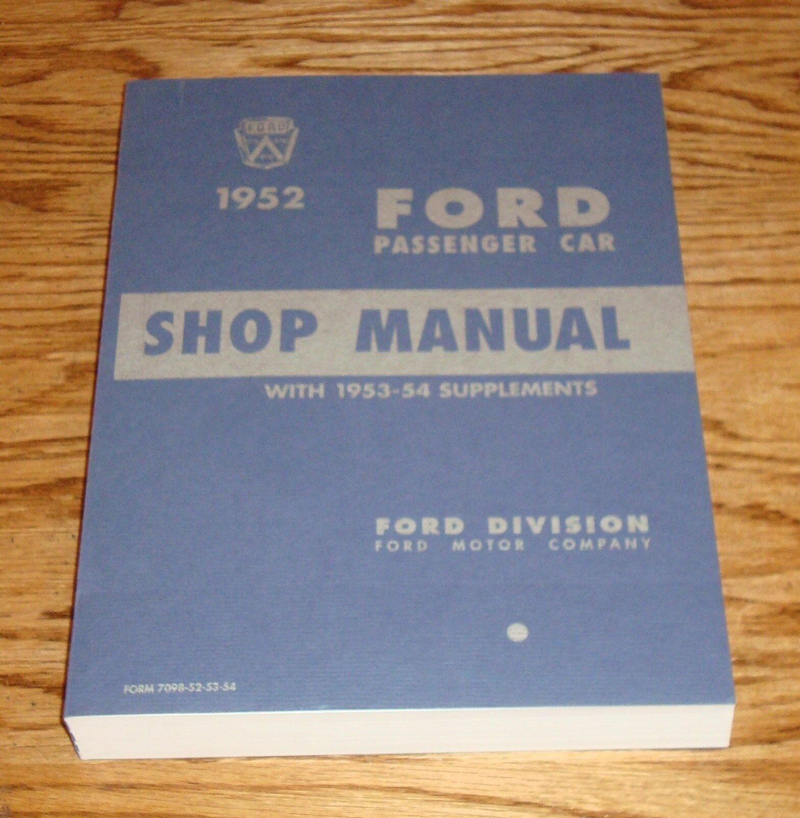 1952 1953 1954 Ford Car Shop Service Manual 52 53 54 Crestline 1956 Mainline Wiring Diagram 1 Of See More