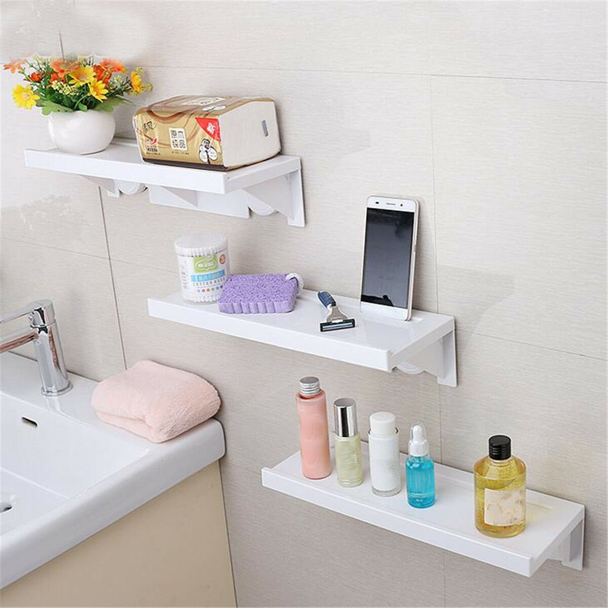 BATHROOM BATHTUB SHELF Holder Shower Storage Caddy Rack Bath ...