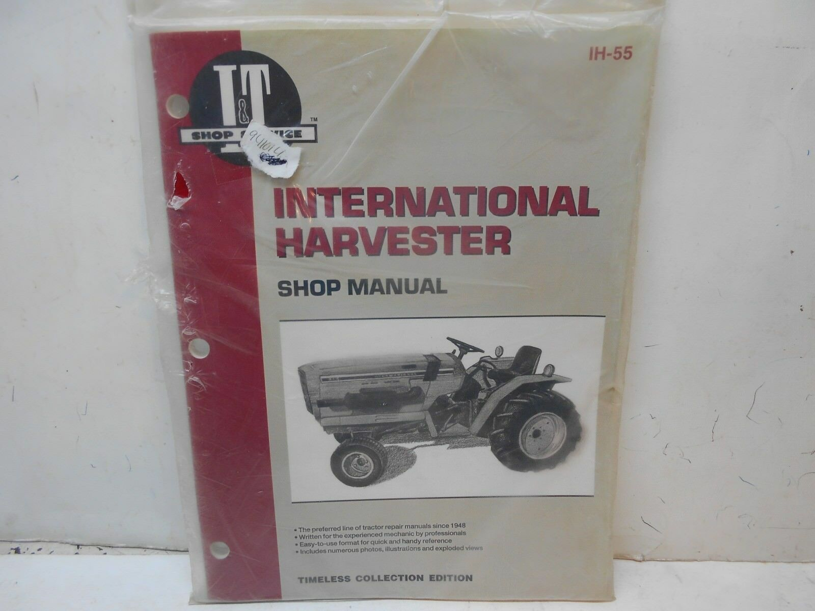 new IT International Harvester shop manual IH 55 tractor 1 of 2Only 1  available See More