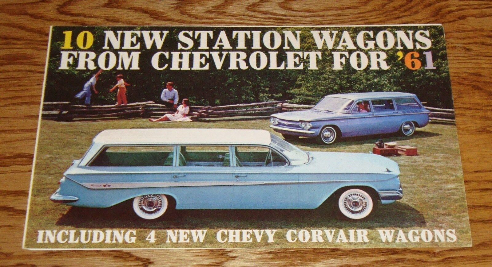1961 Corvair Lakewood Wiring Diagram Schematic Diagrams Chrysler Orig Chevrolet Station Wagons Sales Brochure 61 Nomad Parkwood 1 Of