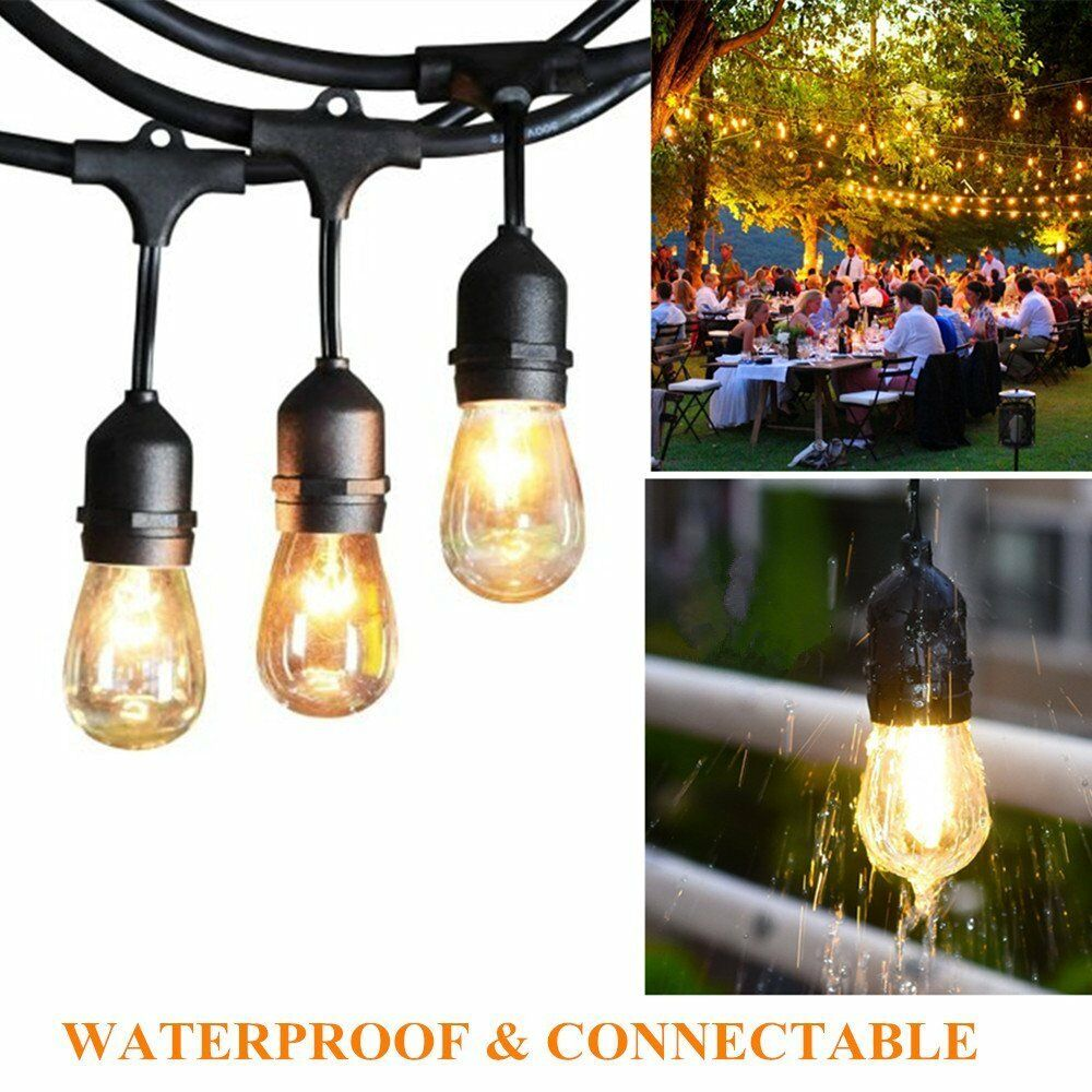 48FT Waterproof Outdoor Commercial Grade Patio Globe Vintage Yard String  Lights 1 Of 11FREE Shipping ...