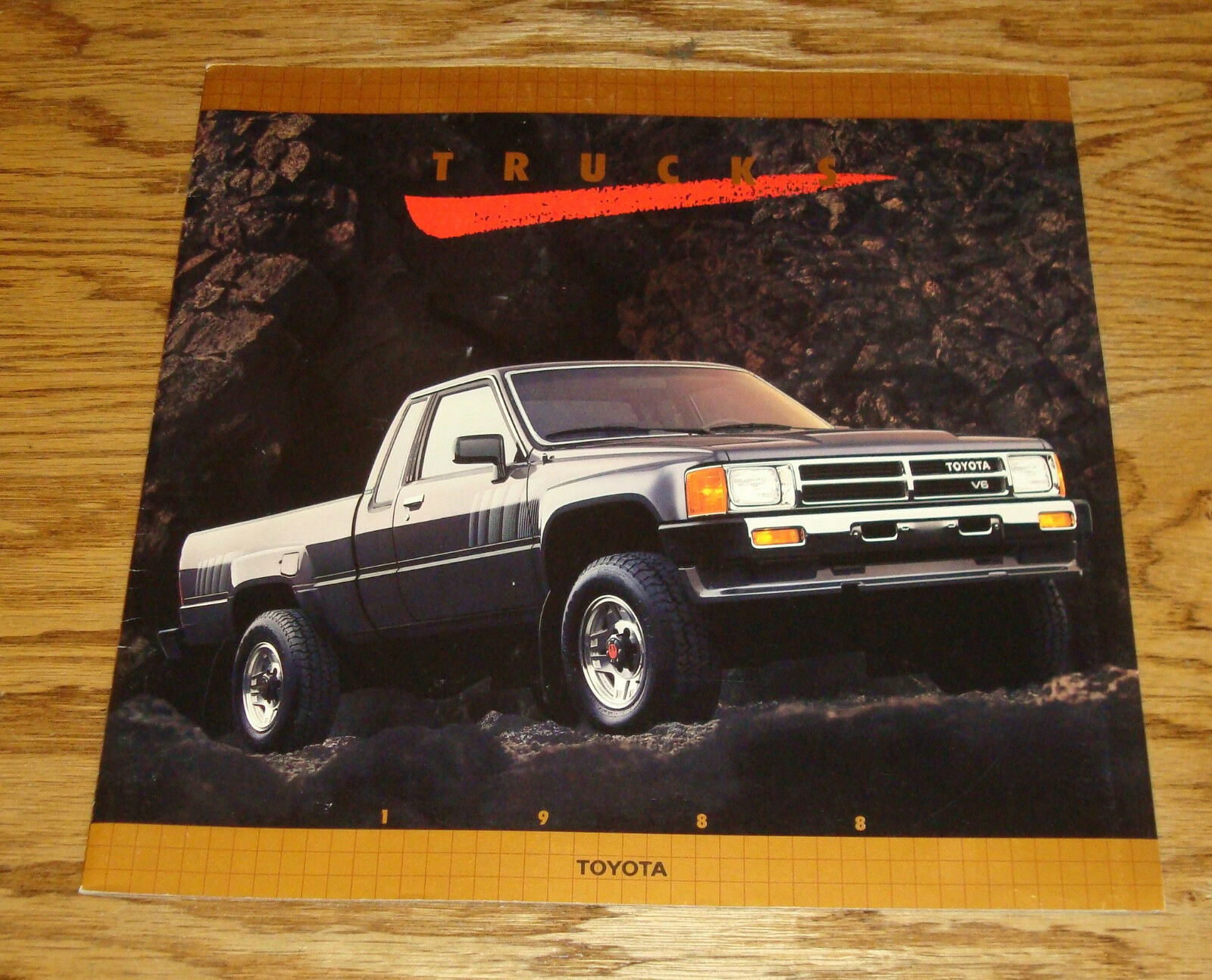 Original 1988 Toyota Truck Full Line Deluxe Sales Brochure 88 4x4 1957 Chevy For Sale 1 Of 2only 3 Available