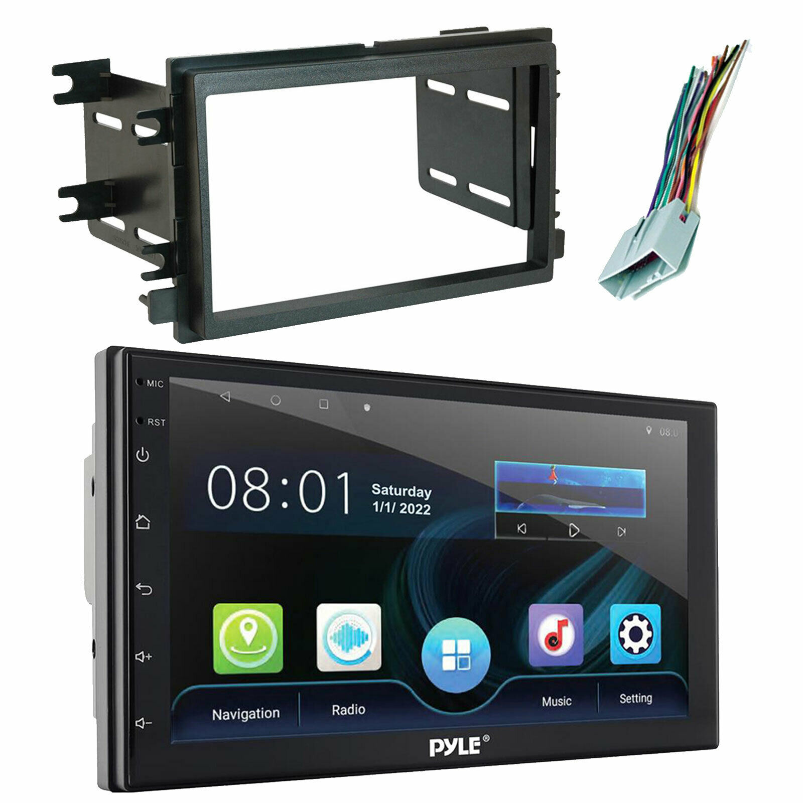 Dual 2 Din Touchscreen Dvd Cd Bluetooth Radio Scosche Dash Kit 2012 Dodge Avenger Wire Harness 1 Of 4only 0 Available