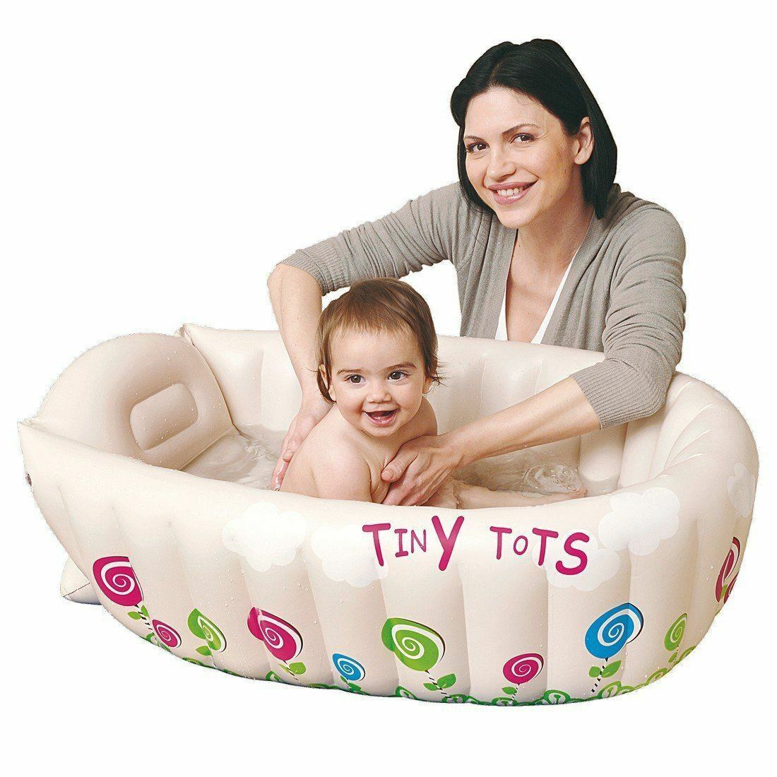 JILONG TINY TOTS Inflatable Baby Bath Tub Travel Infant Washing Tub ...