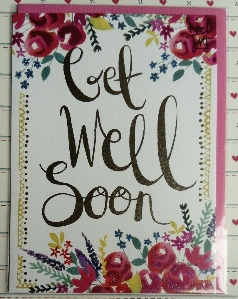Lovely Get Well Soon Card Greeting Cards Modern Roses 149