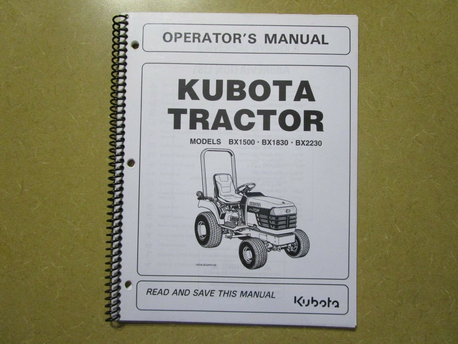 Kubota BX1500 BX1830 BX2230 BX 1500 1830 2230 tractor owners & maintenanc  manual 1 of 1 See More