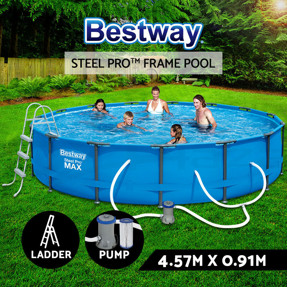 Bestway steel pro frame above ground swimming pool filter - Bestway steel frame swimming pool ...