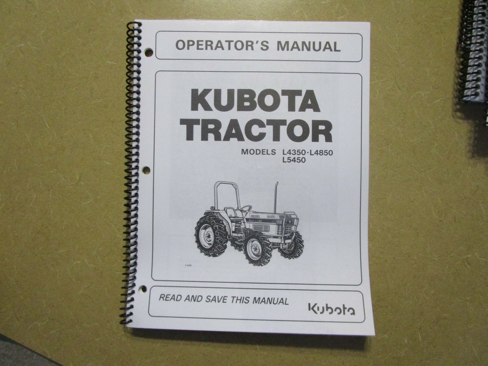 Kubota L4350 L4850 L5450 L4350 4850 5450 tractor owners & maintenance manual  1 of 1Only 1 available See More