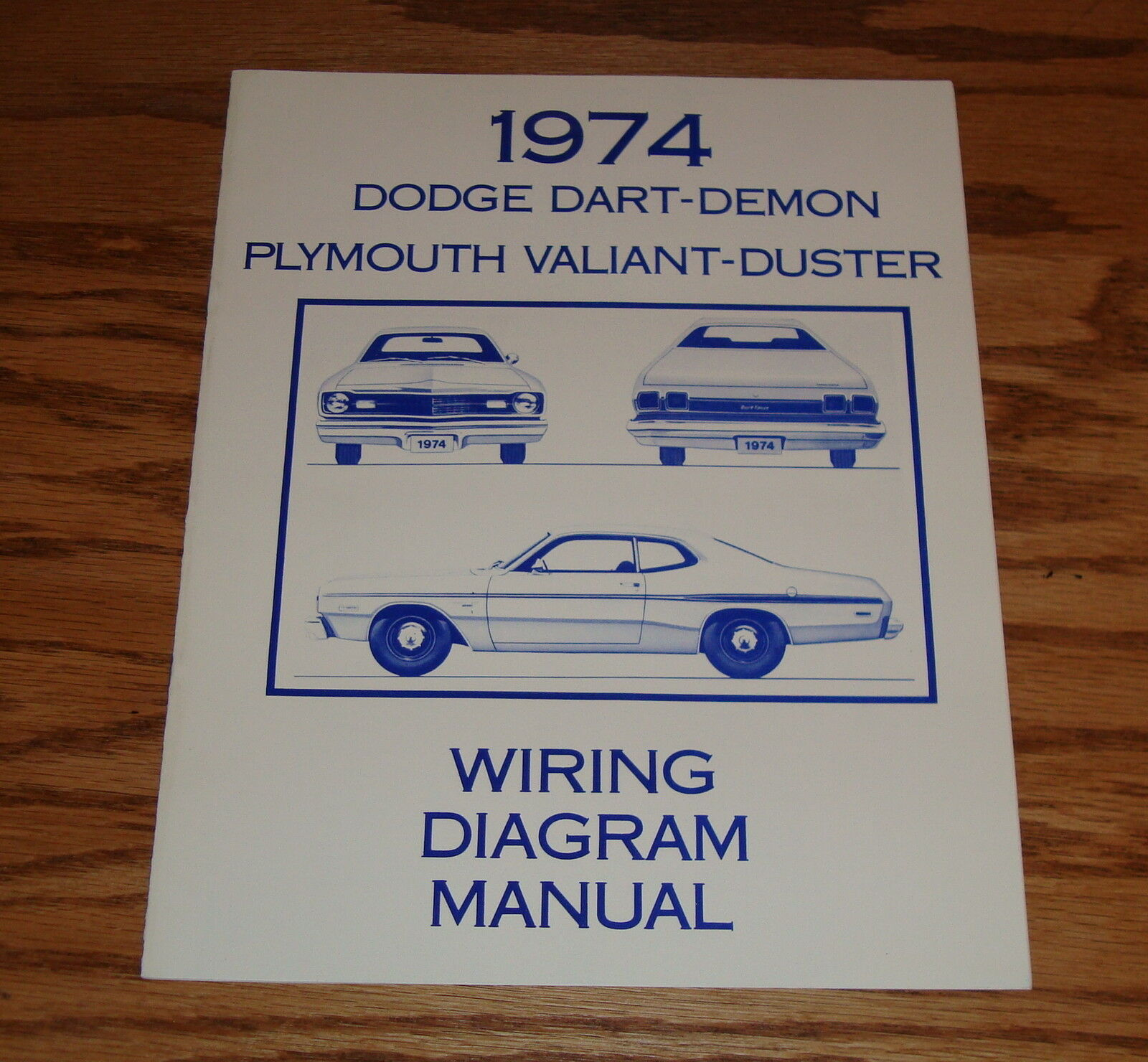 1974 Dodge Dart Demon Plymouth Valiant Duster Wiring Diagram Manual 2014 74 1 Of 1only Available