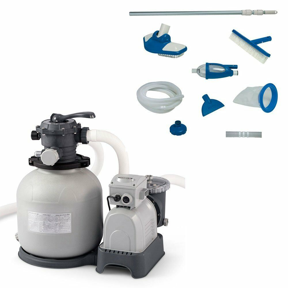 Intex Krystal Clear 3000 Gph Sand Filter Pump Deluxe Pool Maintenance Kit 1 Of 12free Shipping See More