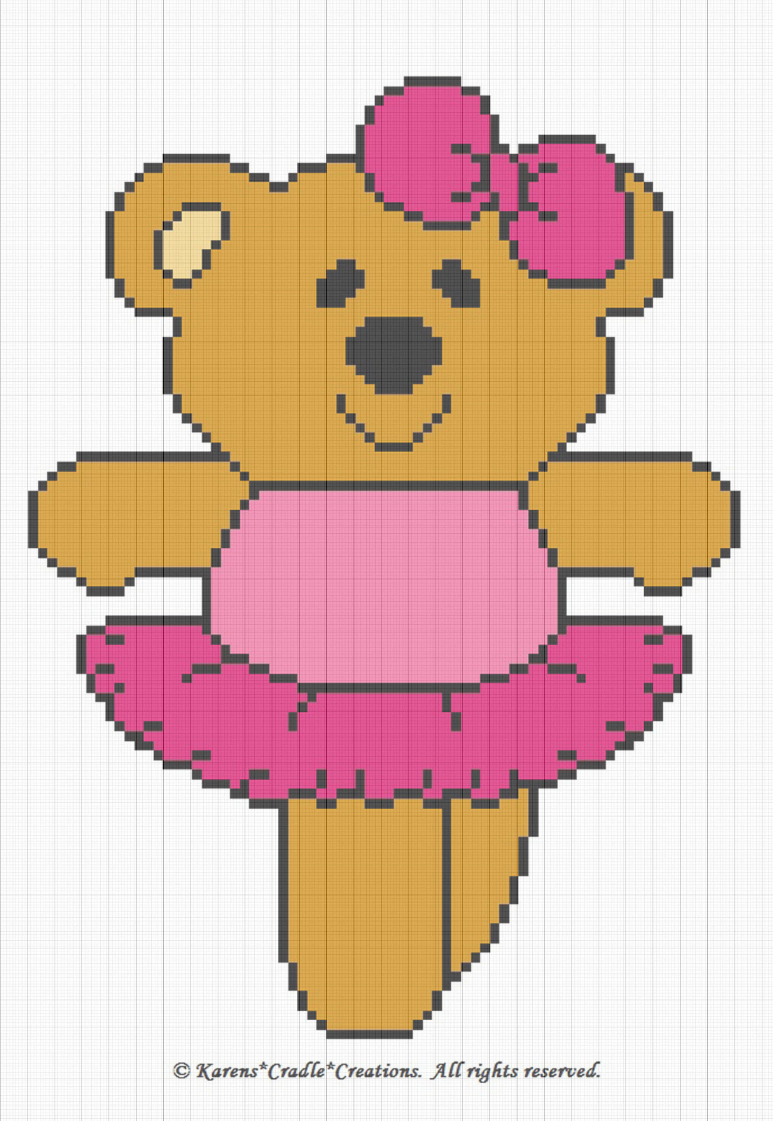 Crochet Ballerina Bear Free Pattern : Crochet Patterns - BALLERINA BEAR afghan pattern USD6.00 ...