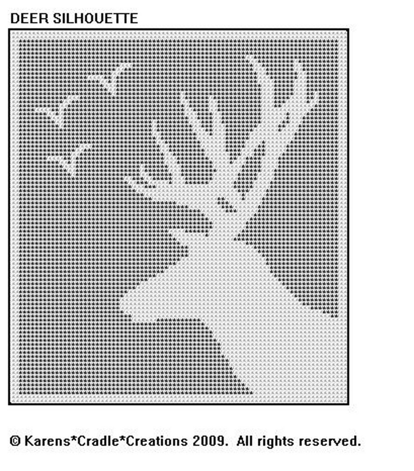Deer Silhouette Filet Crochet Doily Wall Hanging Pattern 600 Diagram Patterns Easy Ideas 1 Of See More