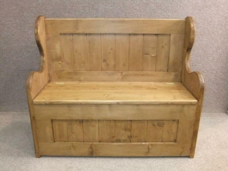 3ft Pine Settle Monks Bench Pew Handmade In Great Britain Picclick Uk