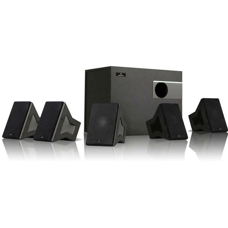 5 1 design heimkino surround anlage satelliten lautsprecher set subwoofer 40 w. Black Bedroom Furniture Sets. Home Design Ideas