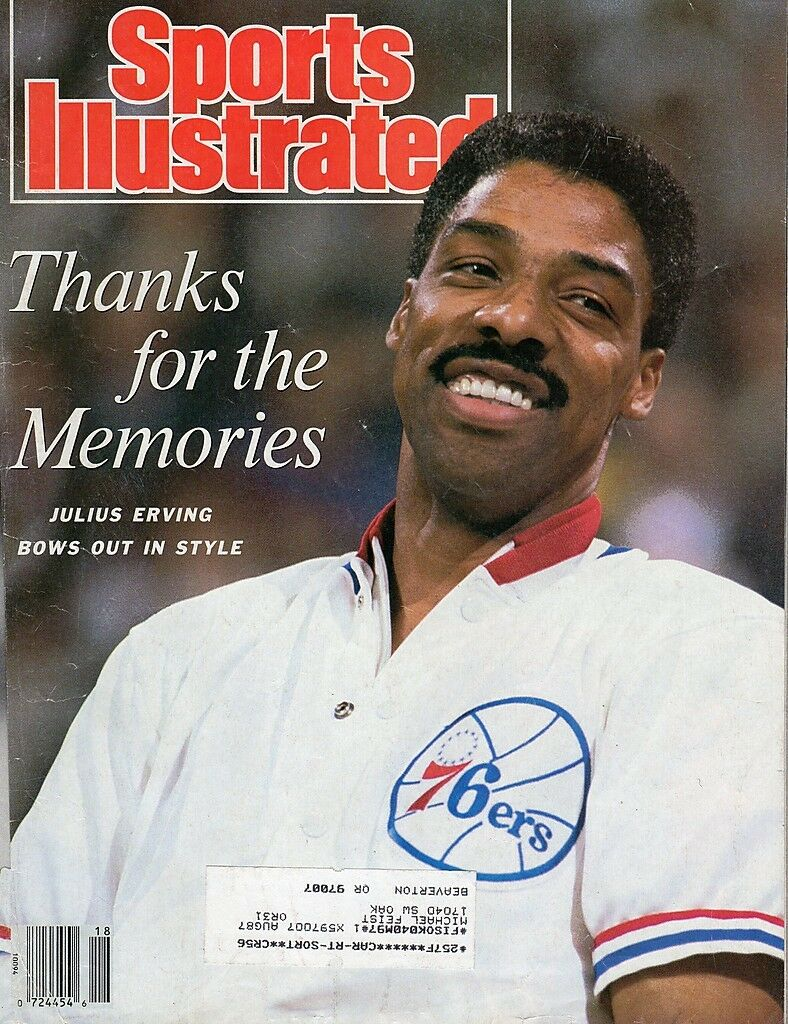1987 MAY SPORTS ILLUSTRATED MAGAZINE JULIUS ERVING ON FRONT COVER