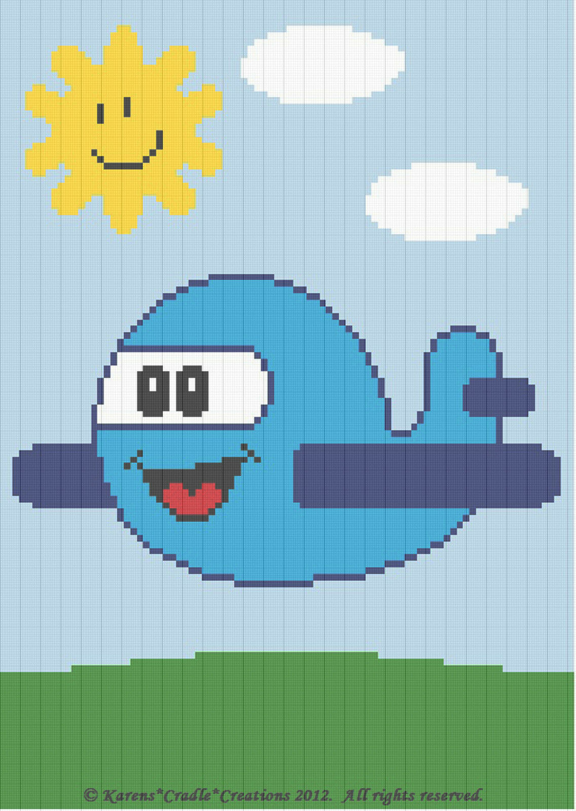 Crochet Patterns - AIRPLANE Baby Afghan Graph Pattern ...