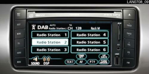 toyota auris hybrid with usb genuine dab radio eur 452 12 picclick de. Black Bedroom Furniture Sets. Home Design Ideas