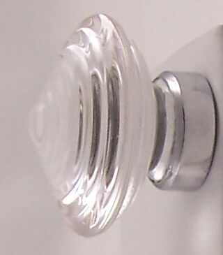 LOTS OF 2 LOW-SWIRL 24% Lead Crystal Knob Pulls-FLAT RATE S/H-$4.99 ANYWHERE