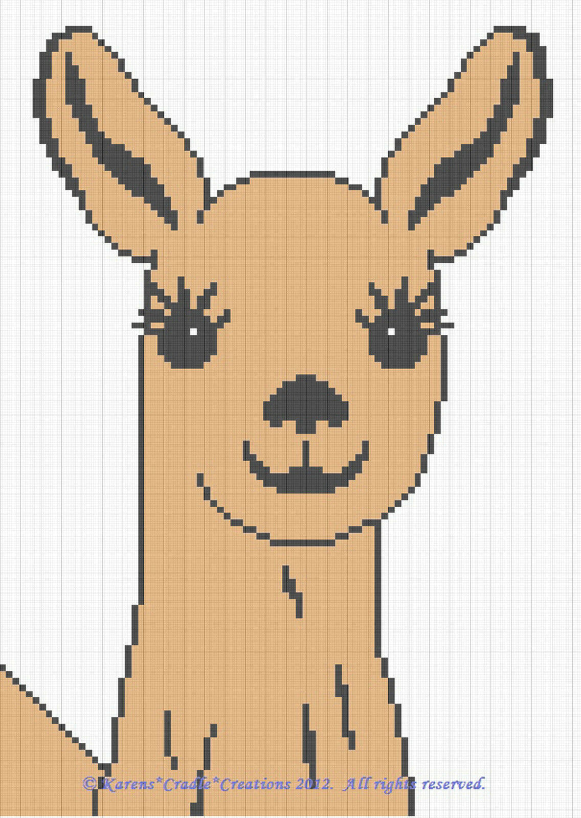 Crochet Patterns - CUTE LLAMA Graph/ Chart Afghan Pattern ...