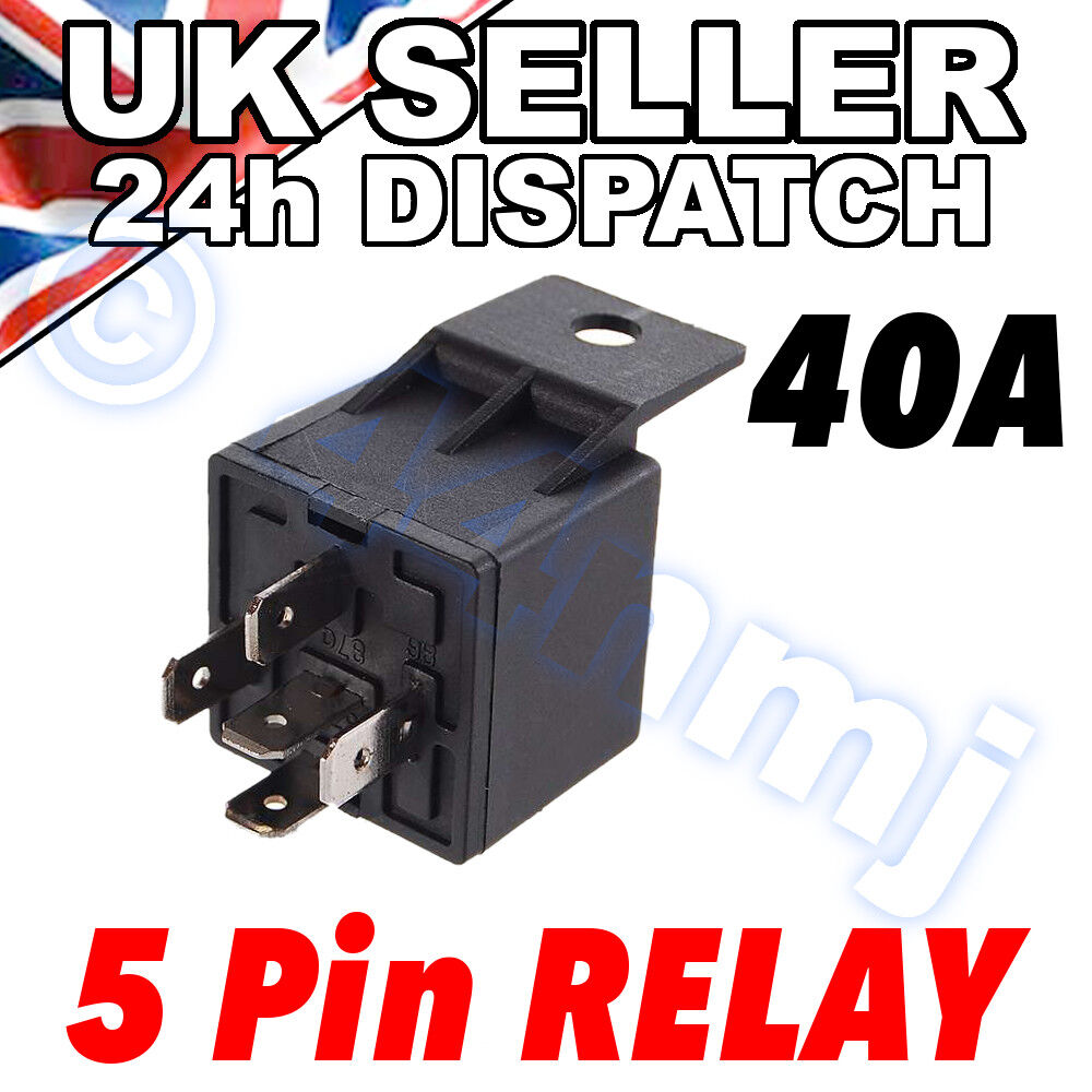 5 Pin 12v 40a Change Over Relay For Aux Lights Horns Etc Car Boat On 1 Di Vedi Altro