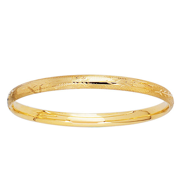 5 14k Yellow Gold Baby Bangle Bracelet 1 Of 1free Shipping See More
