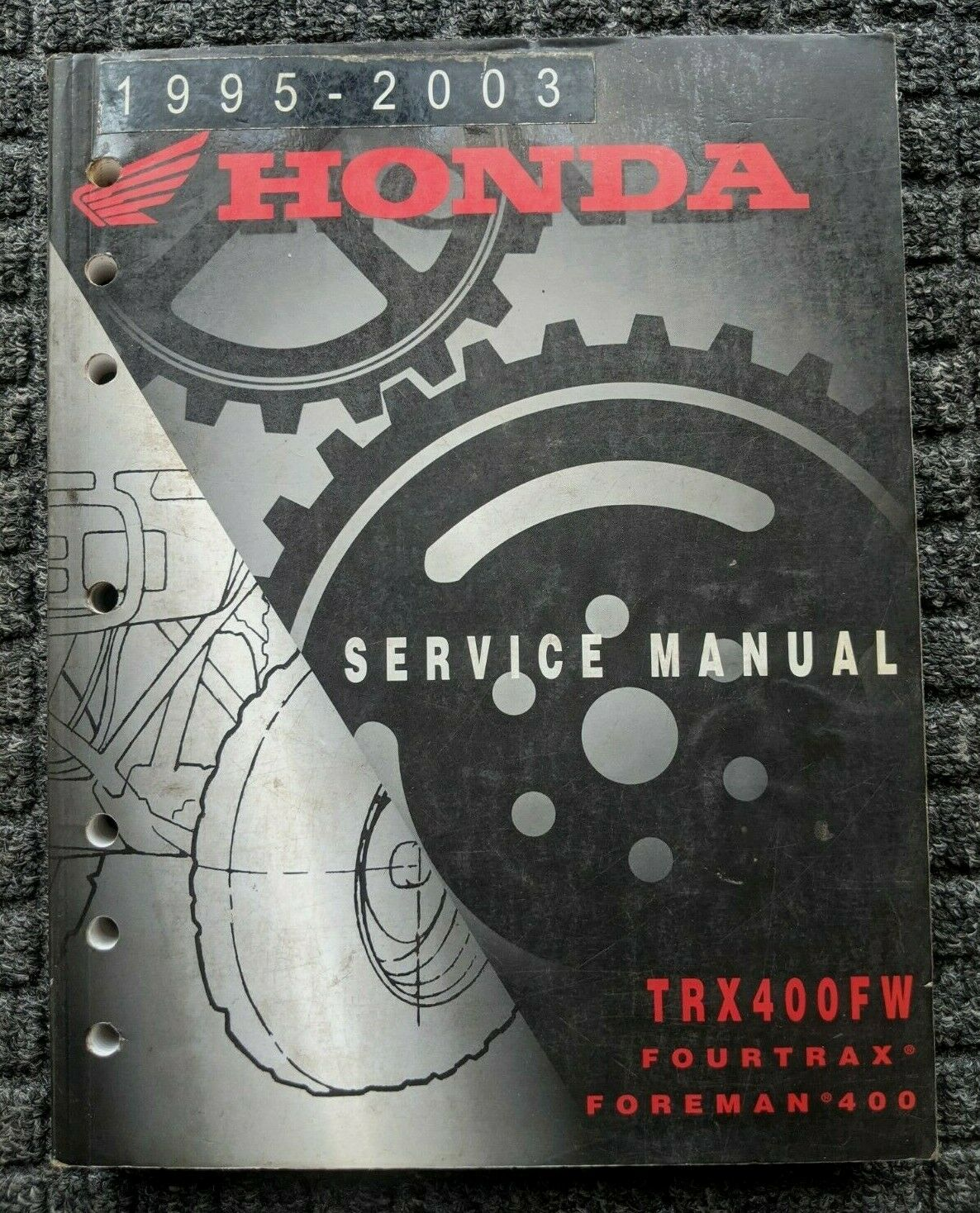 1995 - 2003 Honda Trx400Fw Fourtrax Fourman 400 Service Manual 1 of 1Only 3  available ...