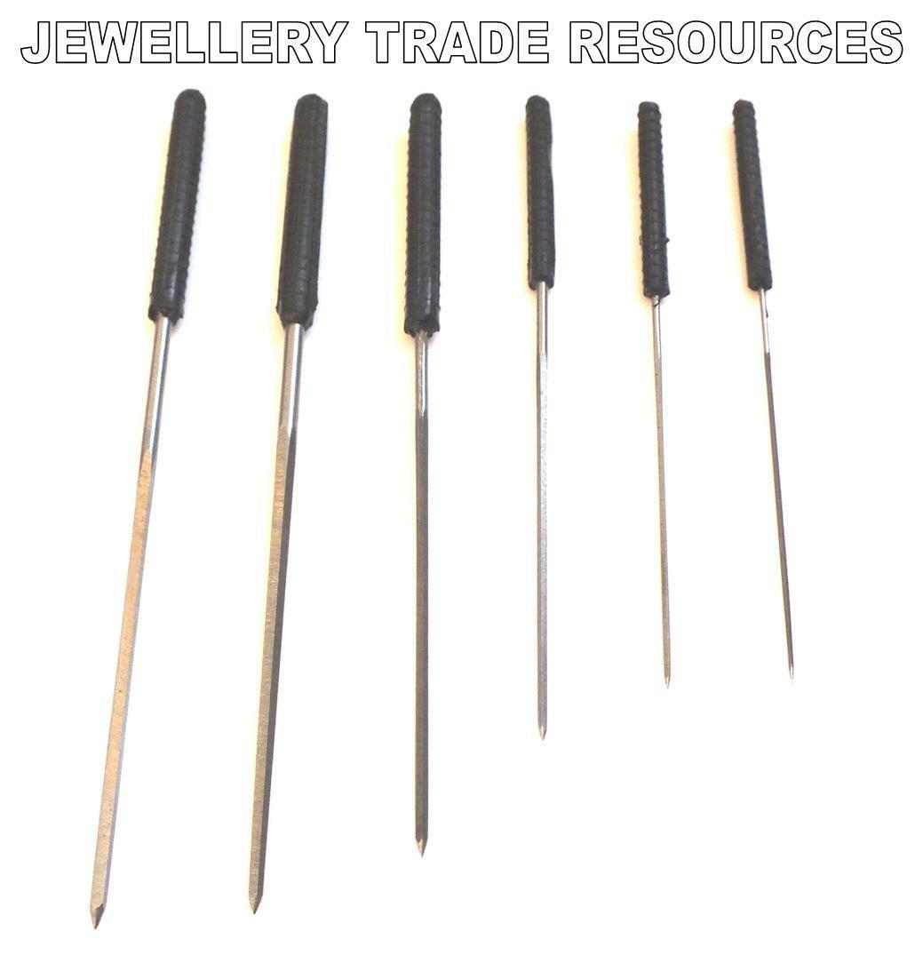 SET OF 6 CLOCK CUTTING BROACHES SET 0.8mm - 2.3mm FOR BUSHING ,SERVICE & REPAIRS