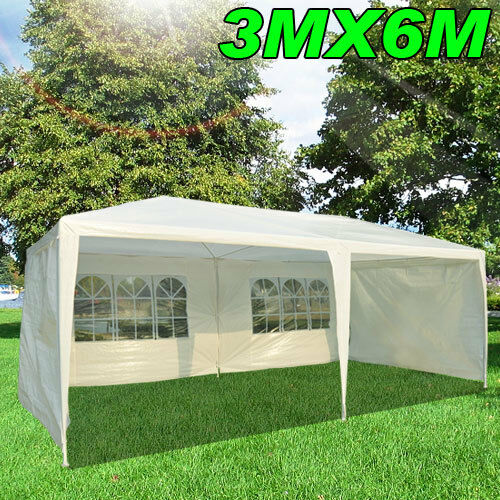 6m X 3m Garden Gazebo Heavy Duty Marquee Party Tent