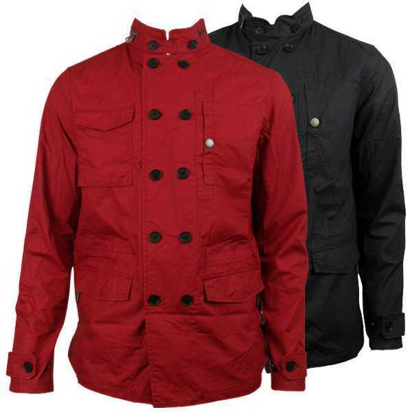 BEN SHERMAN MENS Retro Mod Double Breasted Jacket Military Indie ...