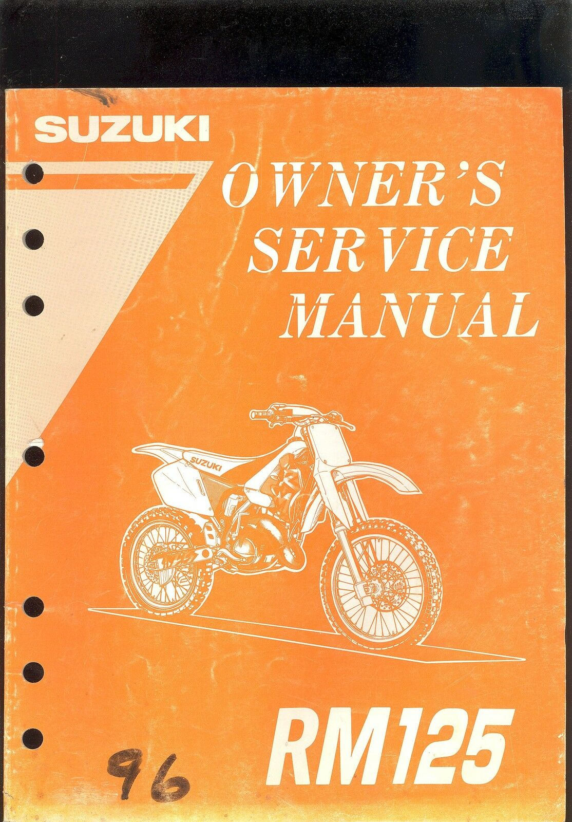 1996 Suzuki Rm125 Motorcycle Owner`s Service Manual 1 of 1Only 2 available  ...