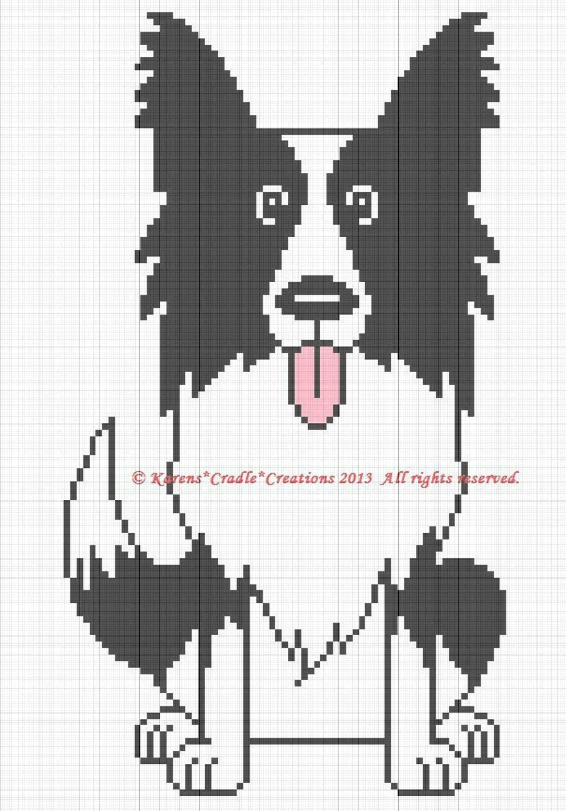 Crochet Patterns Border Collie Color Graph Chart Afghan Pattern Round Ripple With Diagram 1 Of See More