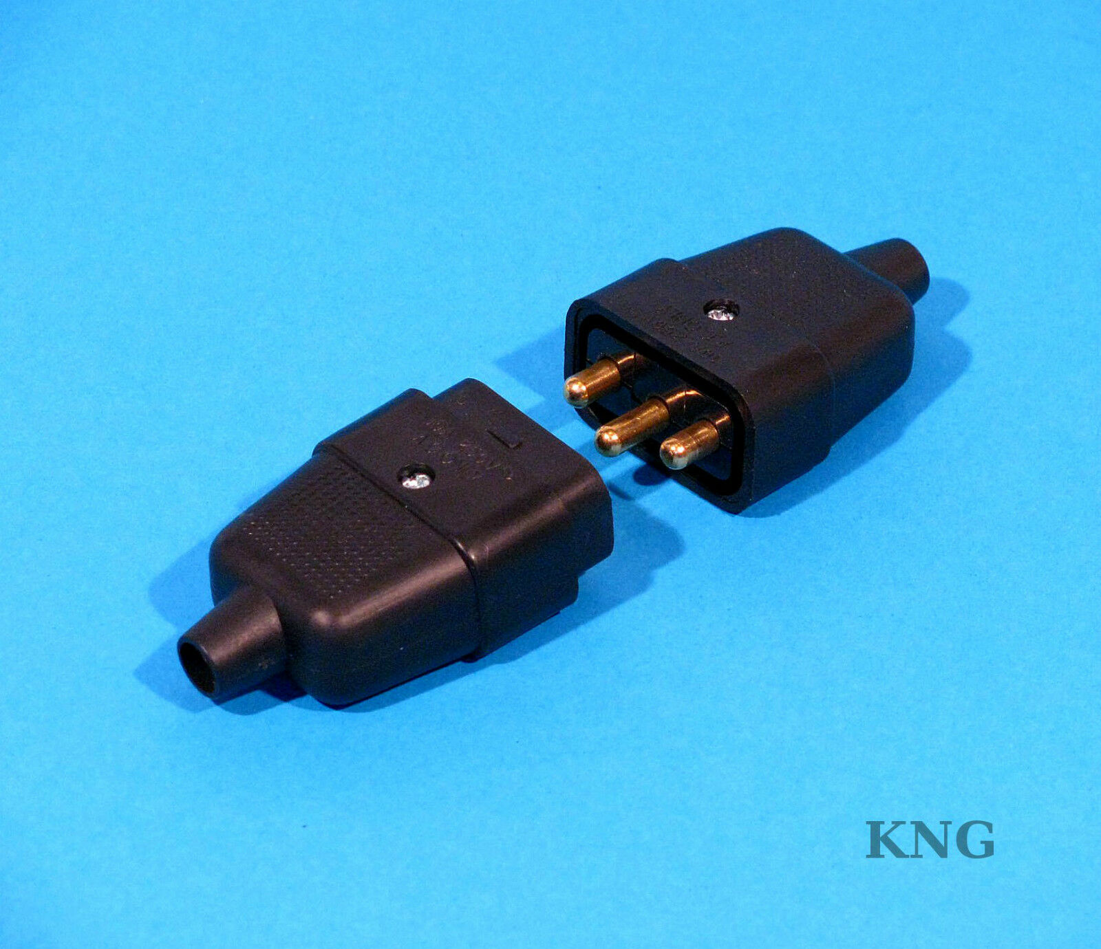 10a Power Connector 3 Pin 2 Black Cable Jointer Lead Wire Plug Wiring A Blue 1 Of 1free Shipping