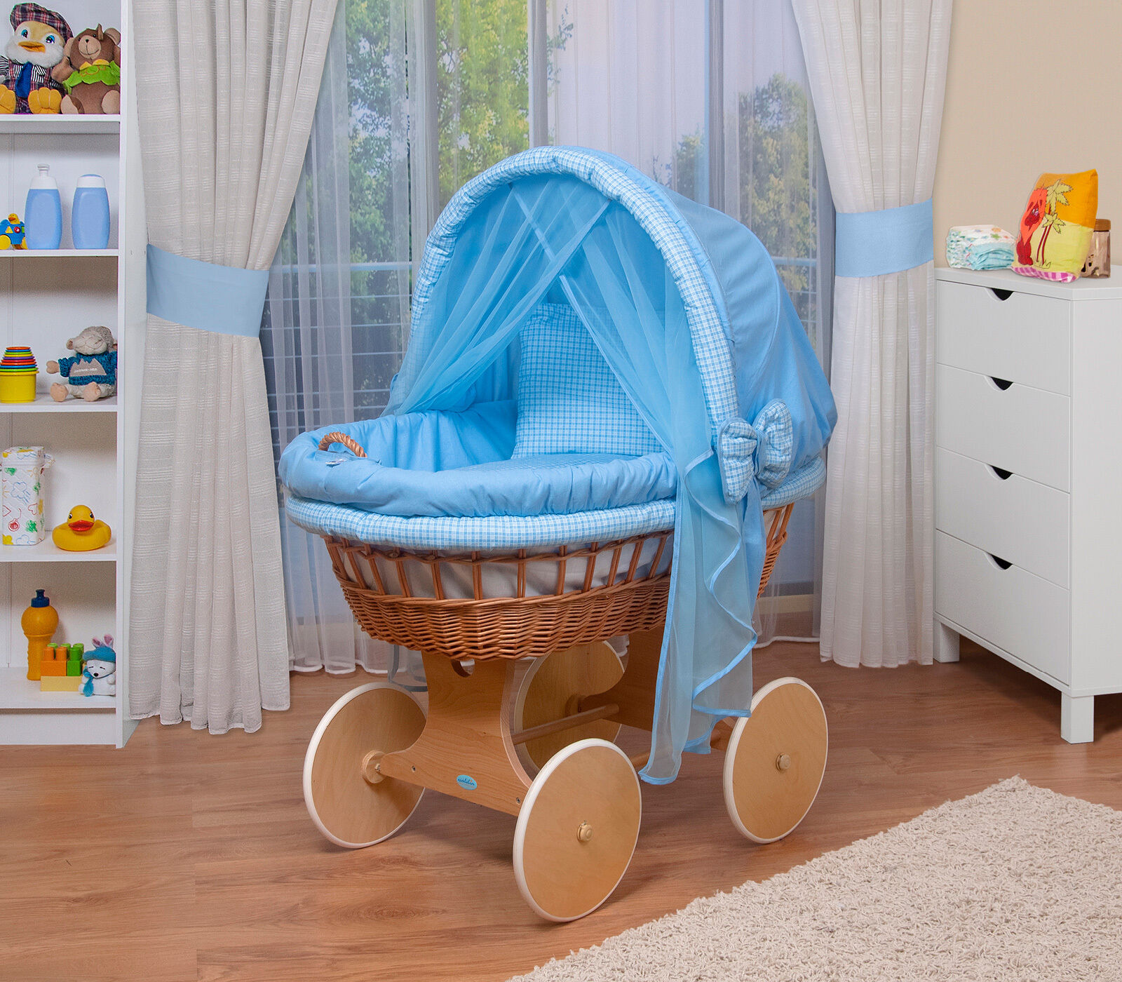 waldin baby bollerwagen stubenwagen xxl neu blau eur 129 99 picclick de. Black Bedroom Furniture Sets. Home Design Ideas