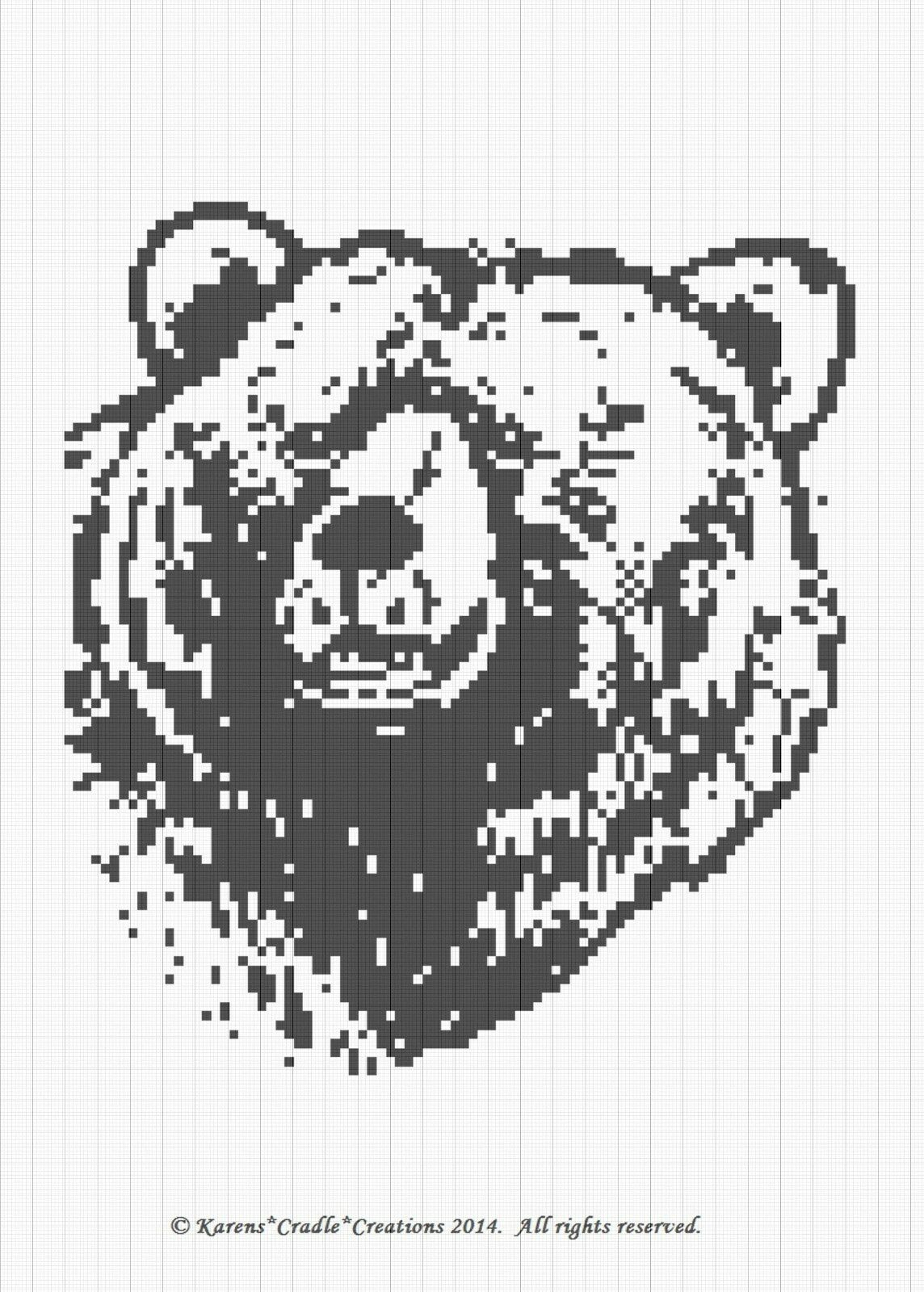 Crochet Patterns Grizzly Bear Graph Afghan Pattern Chart 600 Round Ripple With Diagram 1 Of See More
