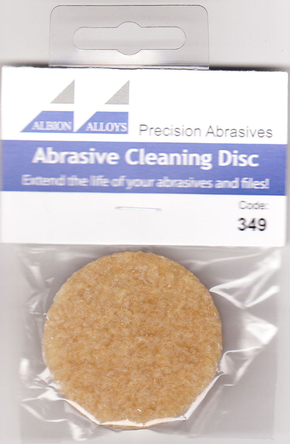 Albion Alloys 349 Abrasive Cleaning Disc - Cleans Sanding Tools - New Pack