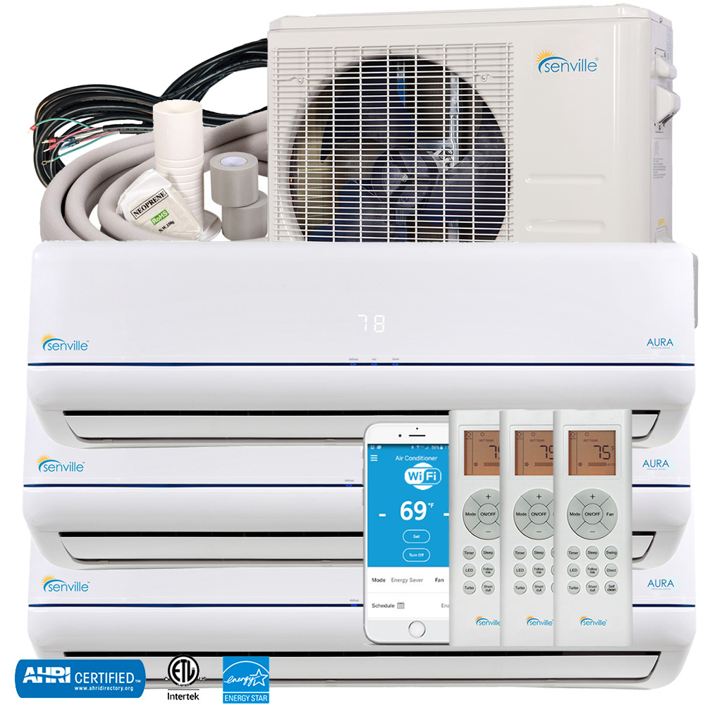 27000 Btu Tri Zone Ductless Mini Split Air Conditioner And Heat Pump Con Wiring Diagram Seer 23 1 Of 4only 5 Available See More