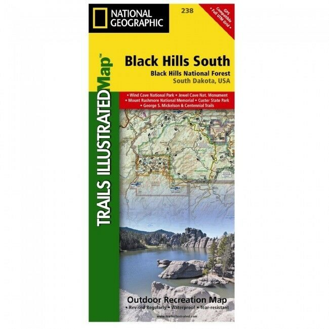 NATIONAL GEOGRAPHIC TRAILS Illustrated SD Black Hills Nat Forest ...