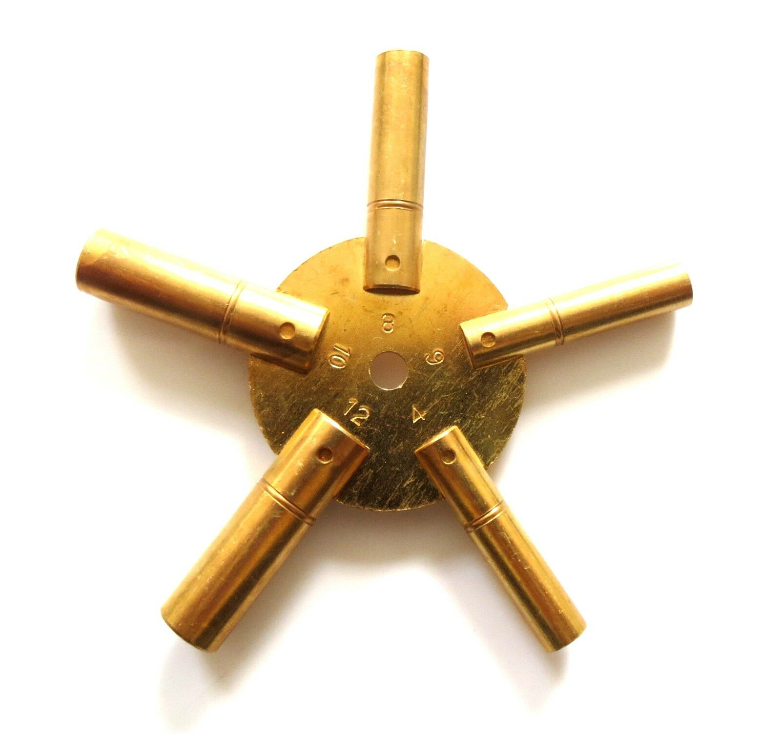 Brass Star Spider Clock Spring Winder Winding Keys Size 4,6,8,10,12 For Workshop